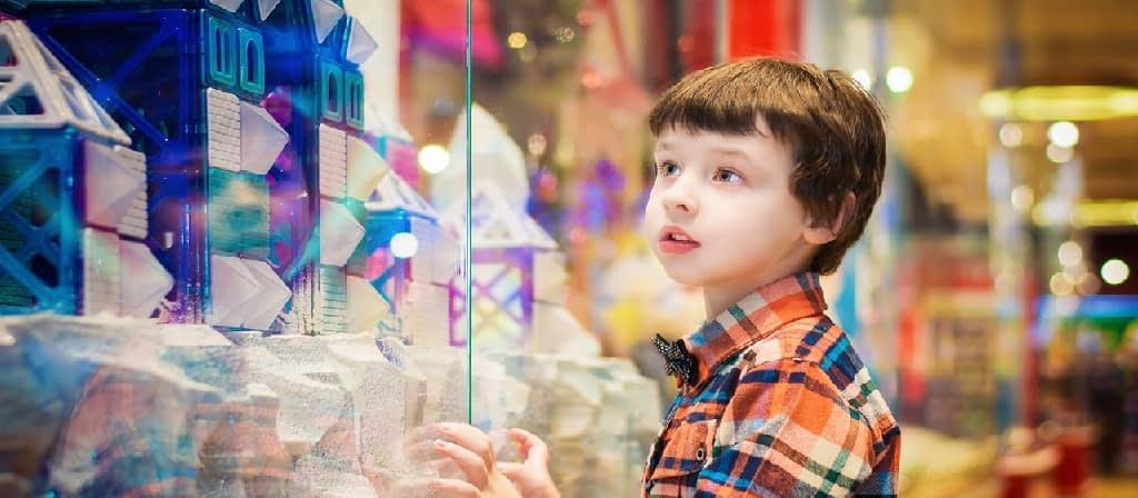 Kid at a toy store